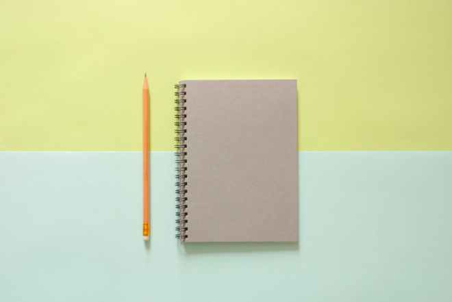 background notebook pencil school supplies